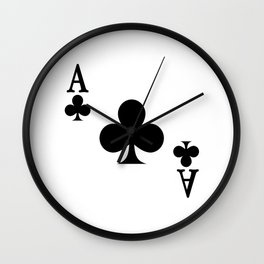 Ace of Clubs Wall Clock