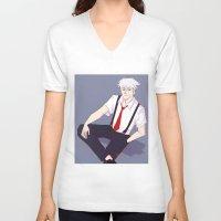 kakashi V-neck T-shirts featuring Kakashi by Ferkashi