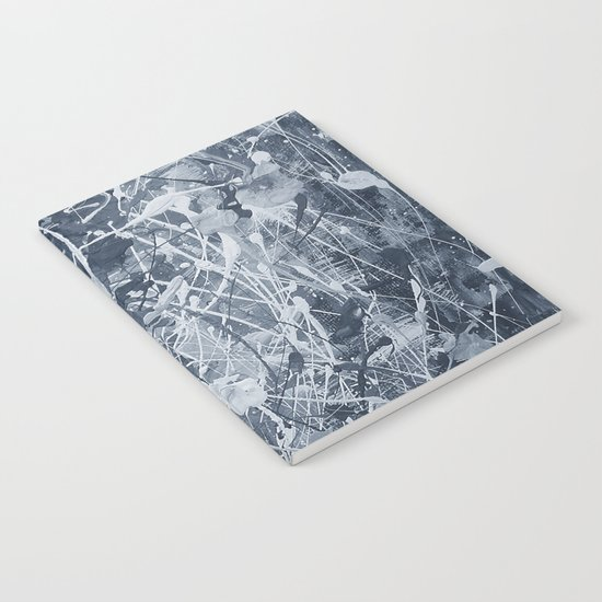 Abstract black painting Notebook