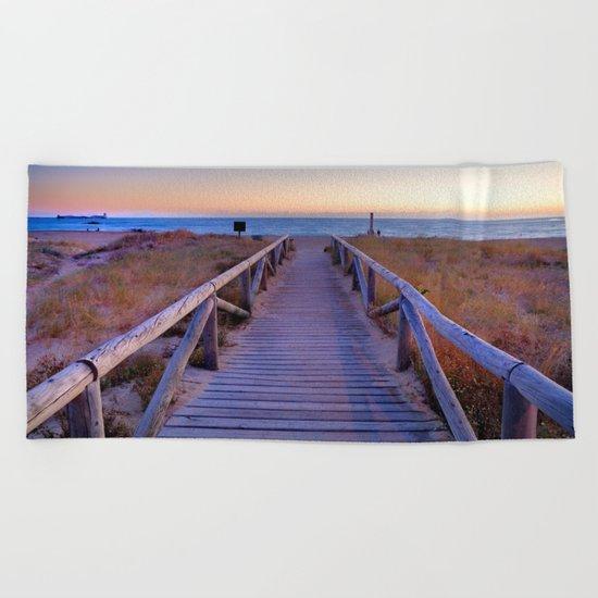 The path..., the beach.... Beach Towel