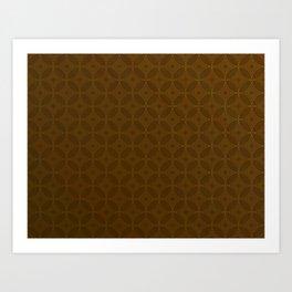 Chocolate Brown Moroccan Geometric Pattern Art Print