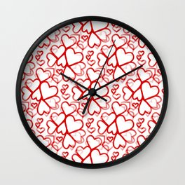 Be My Valentine - Happy Valentines Day Wall Clock