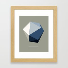 Minimal Geometric Polygon Art Framed Art Print