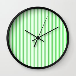 Thin Green Lines Vertical Wall Clock
