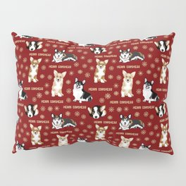 Merry Corgmess- Little Corgi Dogs Celebrate Christmas Pillow Sham