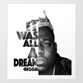 Urban Biggie Smalls Lyrics/Text Font Art Print