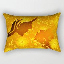 Golden In Love Rectangular Pillow