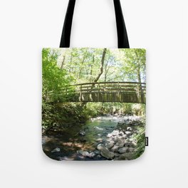 Bridal Veil Falls OR Forest Bridge Tote Bag