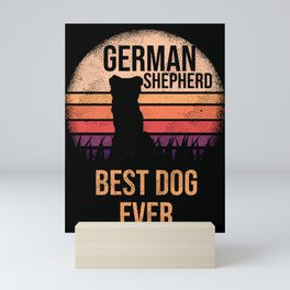 German Shepherd graphic For Dog Lovers Cute Dog Mini Art Print