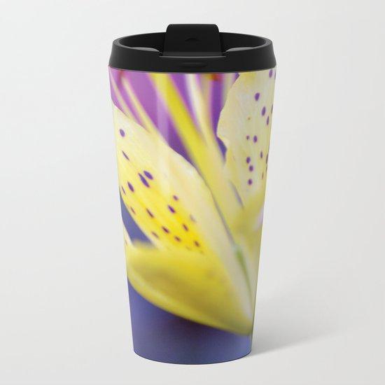 Lily / Lilium Flower Metal Travel Mug