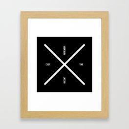 Time doesn't exist Framed Art Print