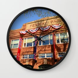 Fenway Spring - Fenway Park in Boston on Opening Day, Red Sox Wall Clock