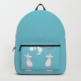 two enamored mouses Backpack