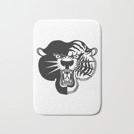 Half Tiger Half Panther Bath Mat