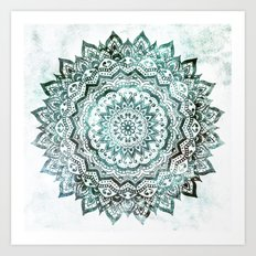 Emerald Jewel Mandala Art Print
