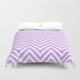 Zigzag Pattern, Chevron Pattern - White Purple Duvet Cover