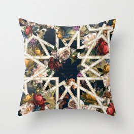 May The Floral Be With You Throw Pillow