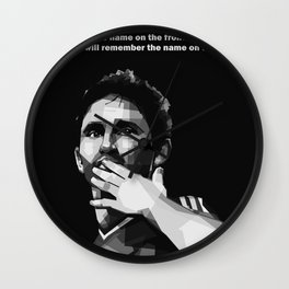 Frank Lampard Quote Wall Clock