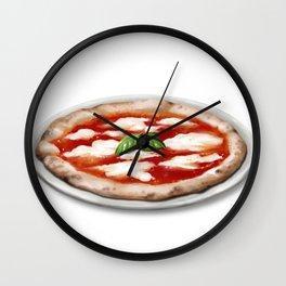 Pizza margherita Wall Clock