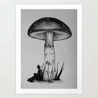 Under the Toadstool Art Print