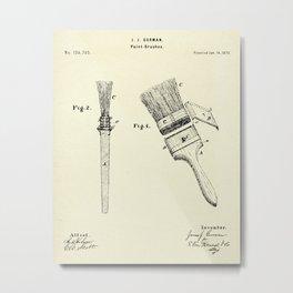 Paint Brushes-1873 Metal Print