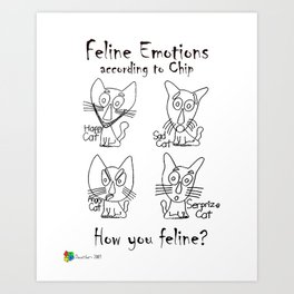 Feline Emotions Art Print