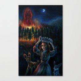 The Burning Man Canvas Print