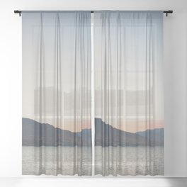 sunset over the lake ... Sheer Curtain