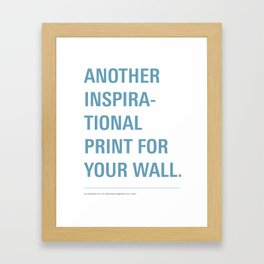 Inspiration. Framed Art Print