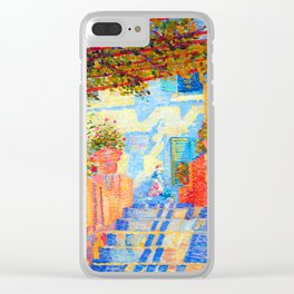 Milan Milovanovic Red Terrace Clear iPhone Case