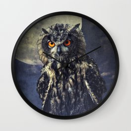 Eagle-Owl Wall Clock