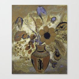 Etruscan Vase with Flowers - Odilon Redon Canvas Print