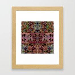 Floral Elephants #2 Framed Art Print