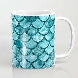 Mermaid Pattern - Aqua Shimmer Coffee Mug