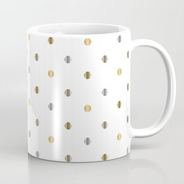 Silver and Gold Polka Dot Design Coffee Mug
