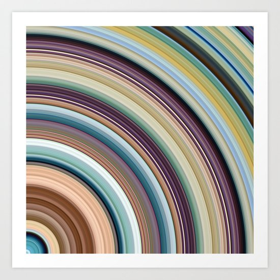 Colorful Planetary Rings Art Print
