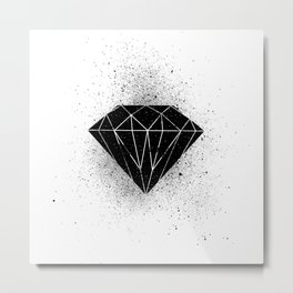 Black diamond! Metal Print