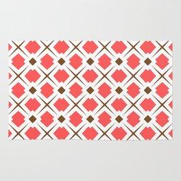 Chocolate Brown + Coral: Pattern No. 6 Rug