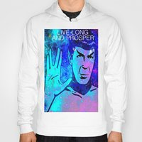 spock Hoodies featuring SPOCK by Saundra Myles