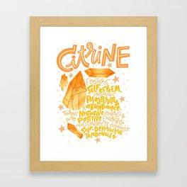 Citrine Framed Art Print