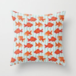 goldenfish Throw Pillow
