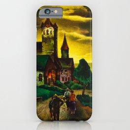 American Masterpiece 'Church on a New England Corner' by Will Schwartz iPhone Case