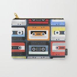 Compact cassettes. Set. Vintage illustration flat design style Carry-All Pouch
