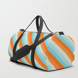 Goldfish Diagonal Striped Pattern Duffle Bag