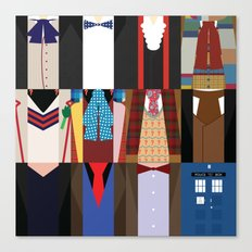 The Doctors - Doctor Who & TARDIS Canvas Print