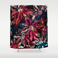flora Shower Curtains featuring flora by Janine Lecour