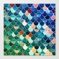 tiffany Canvas Prints featuring REALLY MERMAID TIFFANY by Monika Strigel