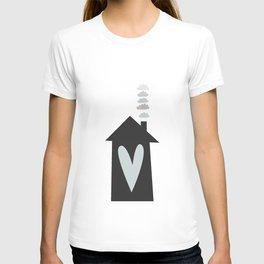 Home, Love, Illustration, Heart,  T-shirt