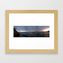 Lower Largo Pier Framed Art Print