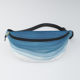 Watercolor blue waves Fanny Pack
